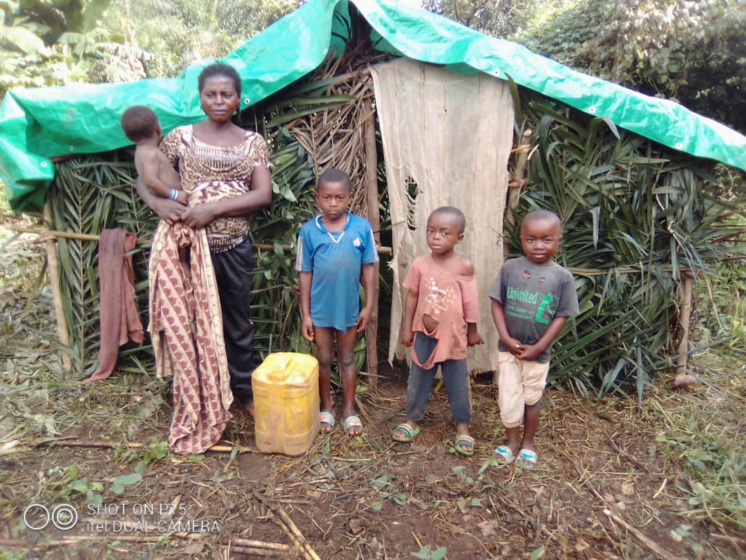 Poor family needing shelter in a remote community